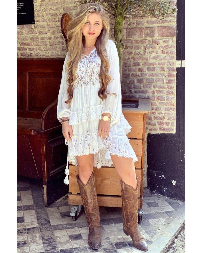Phoebe Bohemian Dress - White