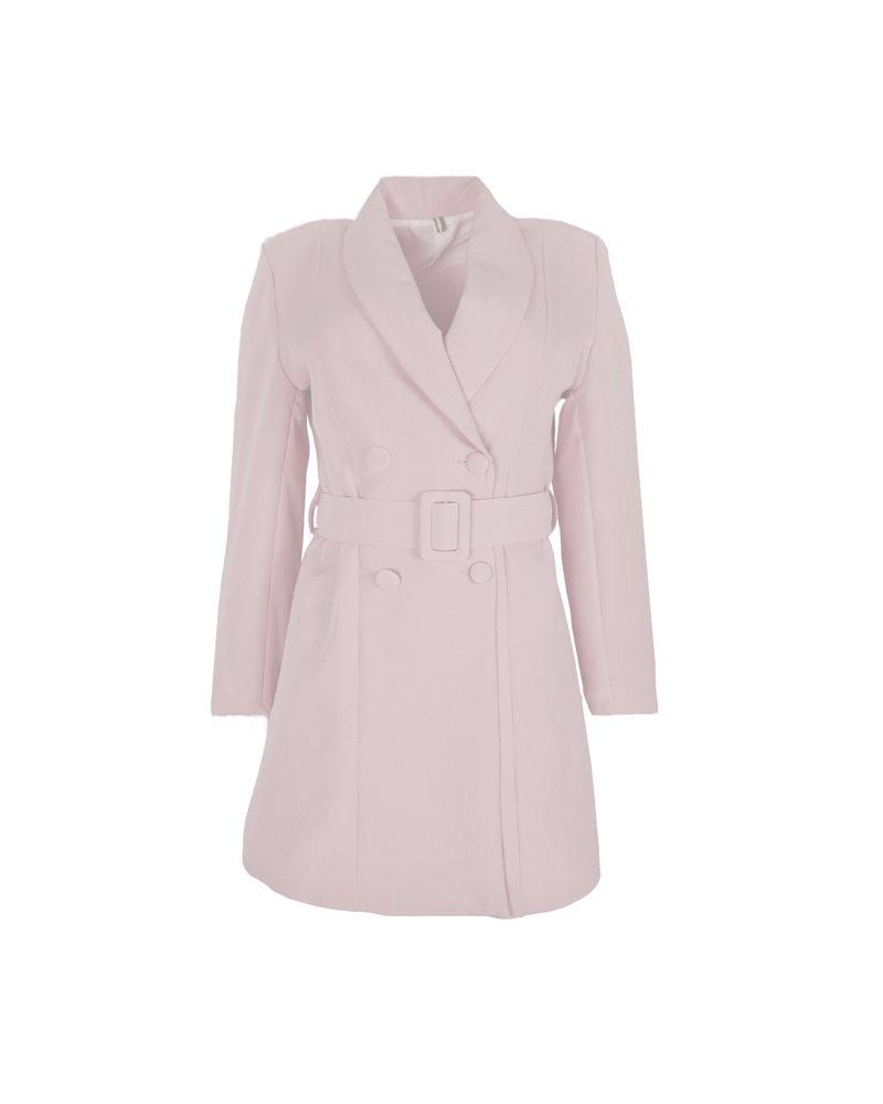 Josh Blazer Dress - Light Pink