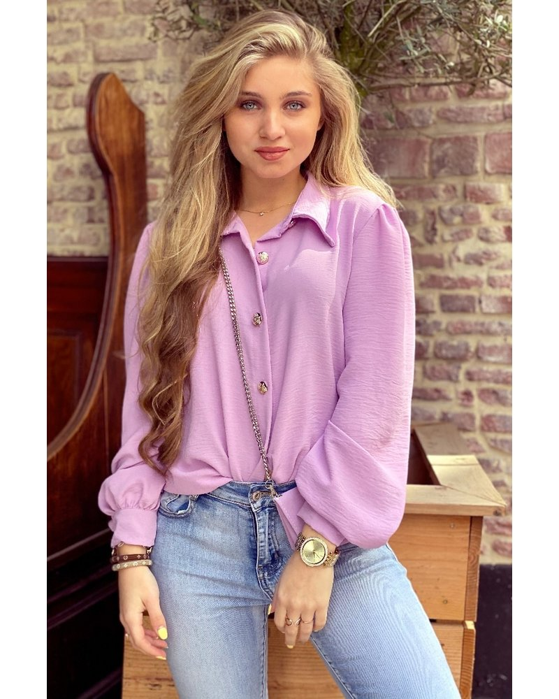 Ruby Blouse with Bag - Lilac / Gold