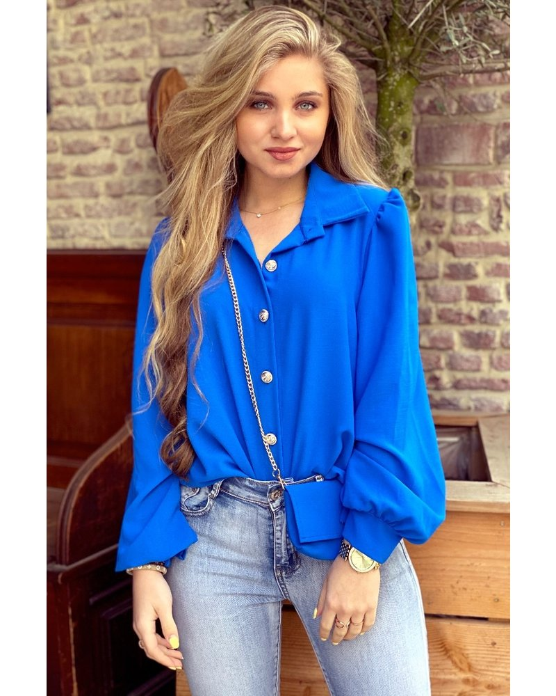 Ruby Blouse with Bag - Kobalt / Gold