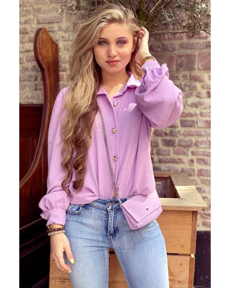 Ruby Blouse with Bag - Lilac / Silver