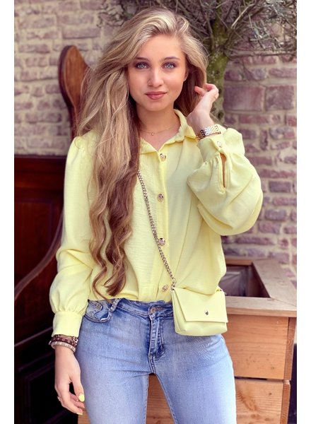 Ruby Blouse with Bag - Yellow / Silver