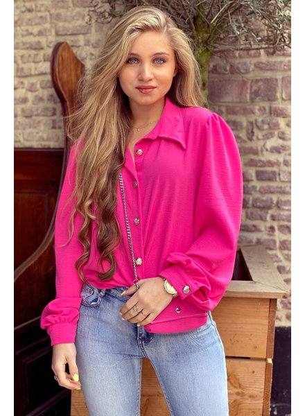 Ruby Blouse with Bag - Fuchsia / Silver
