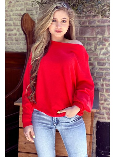 Basic Butterfly Sweater - Red