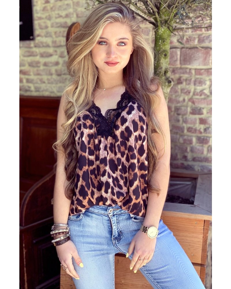 Evy Lace Top - Leopard