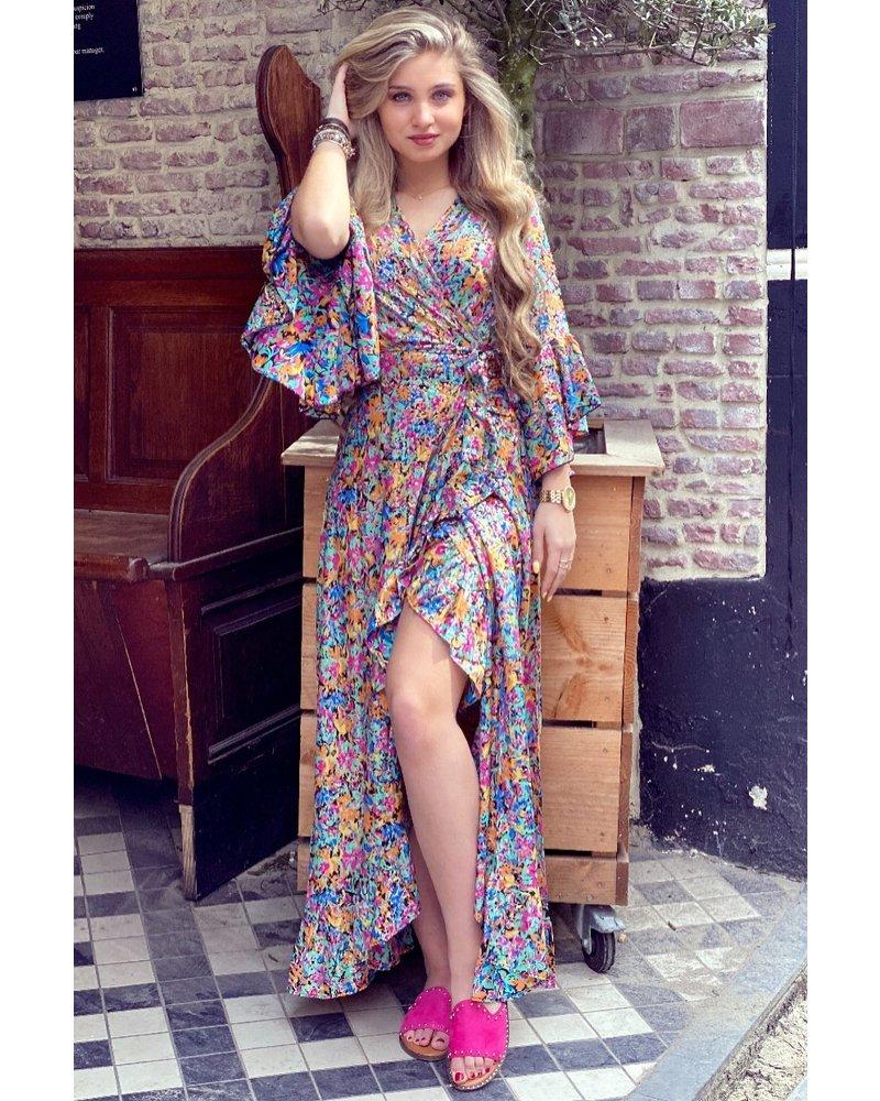 Cecilia Maxi Dress - Black / Multicolour