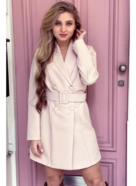 Josh Blazer Dress - Light Pink