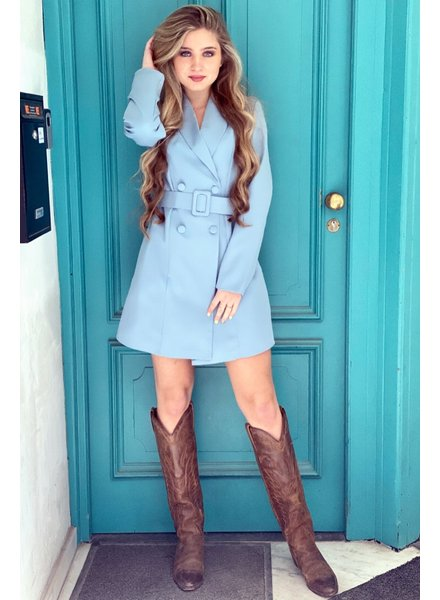 Josh Blazer Dress - Light Blue
