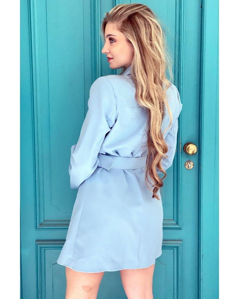 Josh Blazer Dress - Light Blue