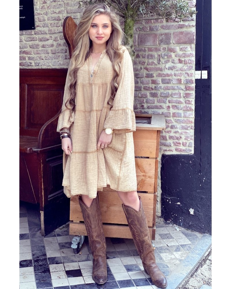 Saige Dress - Camel