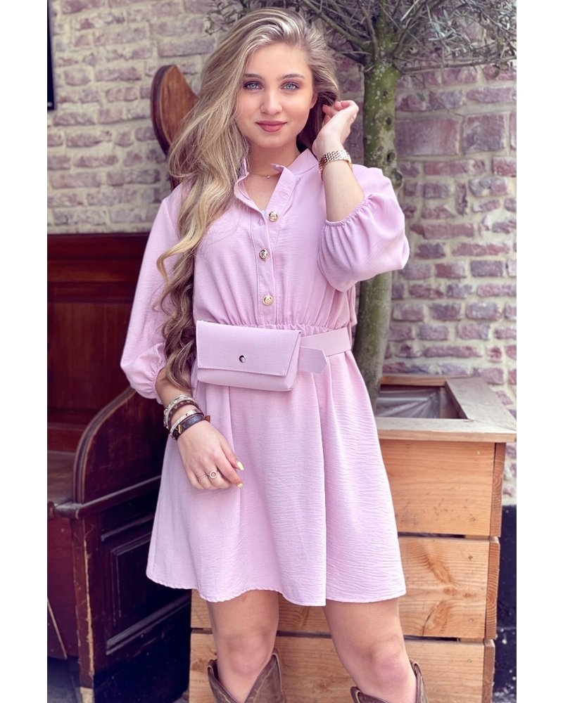 Tessa Dress With Bag- Light Pink