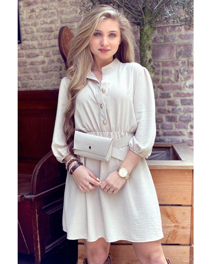 Tessa Dress With Bag- Beige