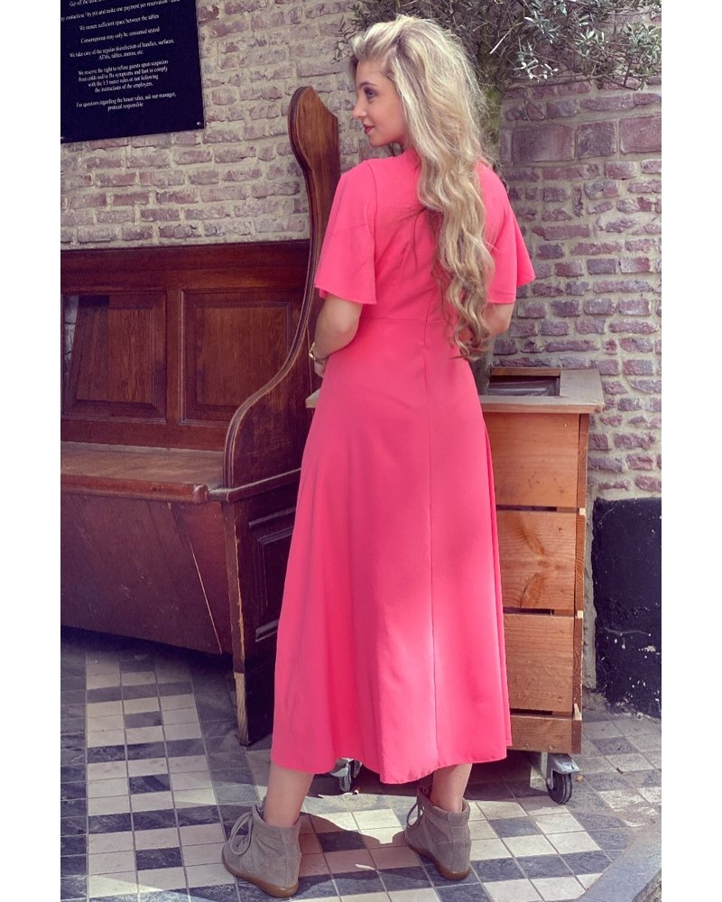 Kyra Midi Dress - Coral