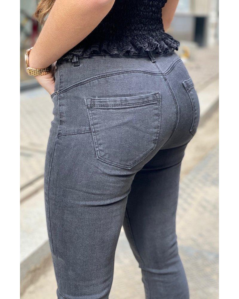 Demi Push Up Jeans - Darkgrey