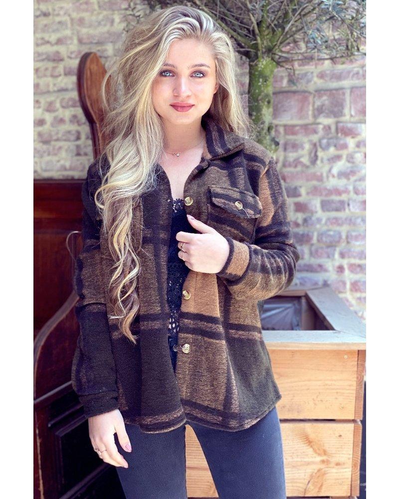 Lexi Coat - Black / Brown