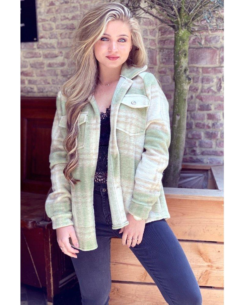 Lexi Coat - Green / Crème