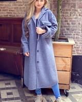 Zara Long Coat - Blue