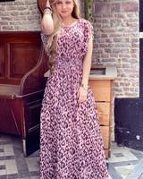 Leopard Maxi Dress - Pink