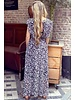 Leopard Maxi Dress - Black