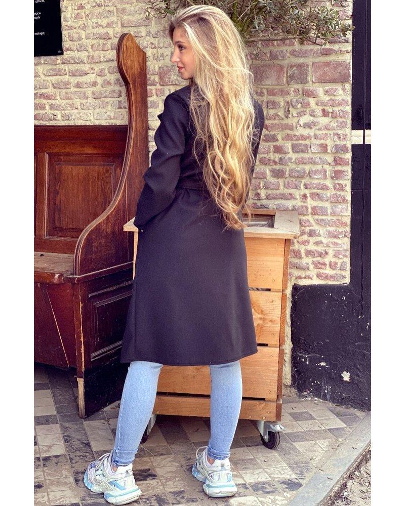 Poppy Parisian Coat - Black