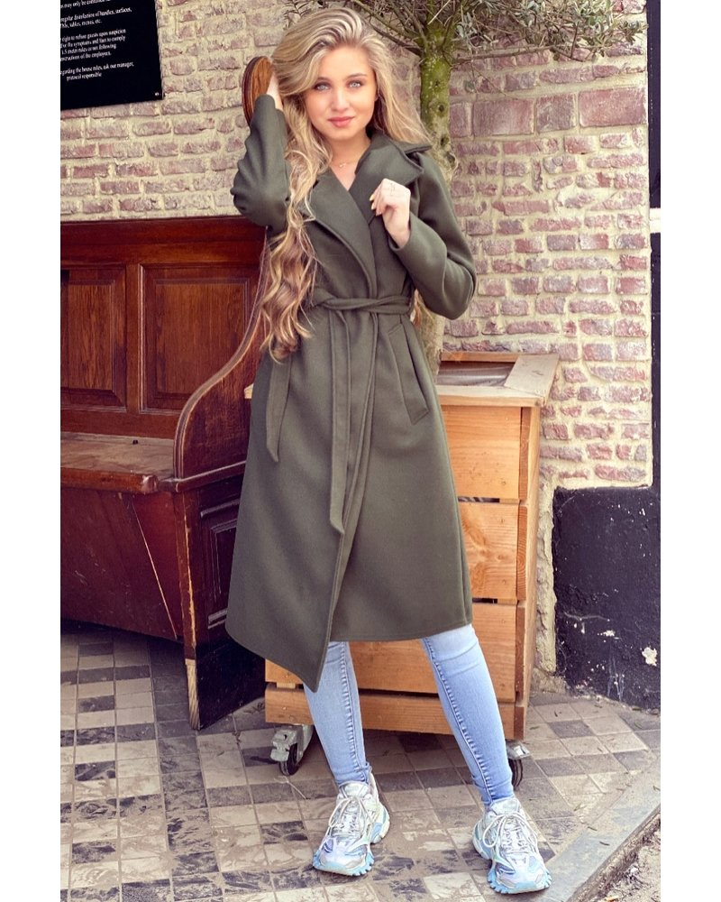 Poppy Parisian Coat - Army Green