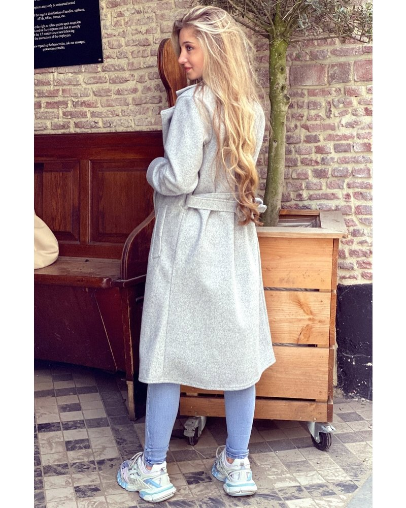 Poppy Parisian Coat - Light Grey