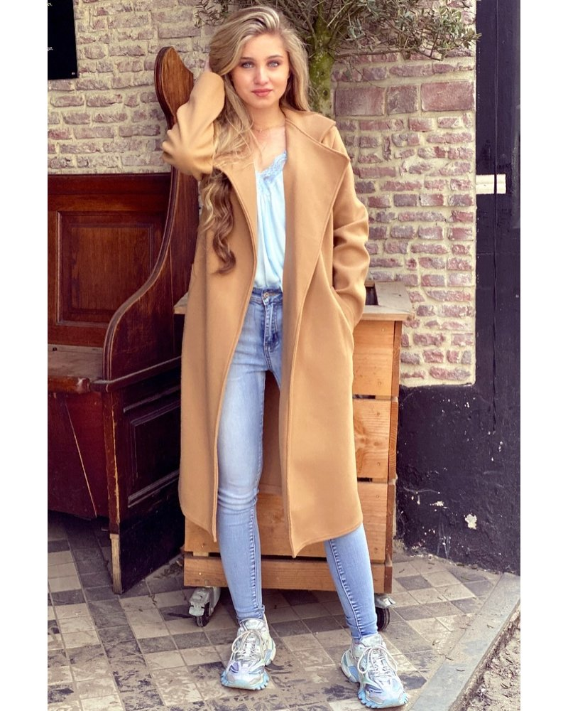 Poppy Parisian Coat - Camel