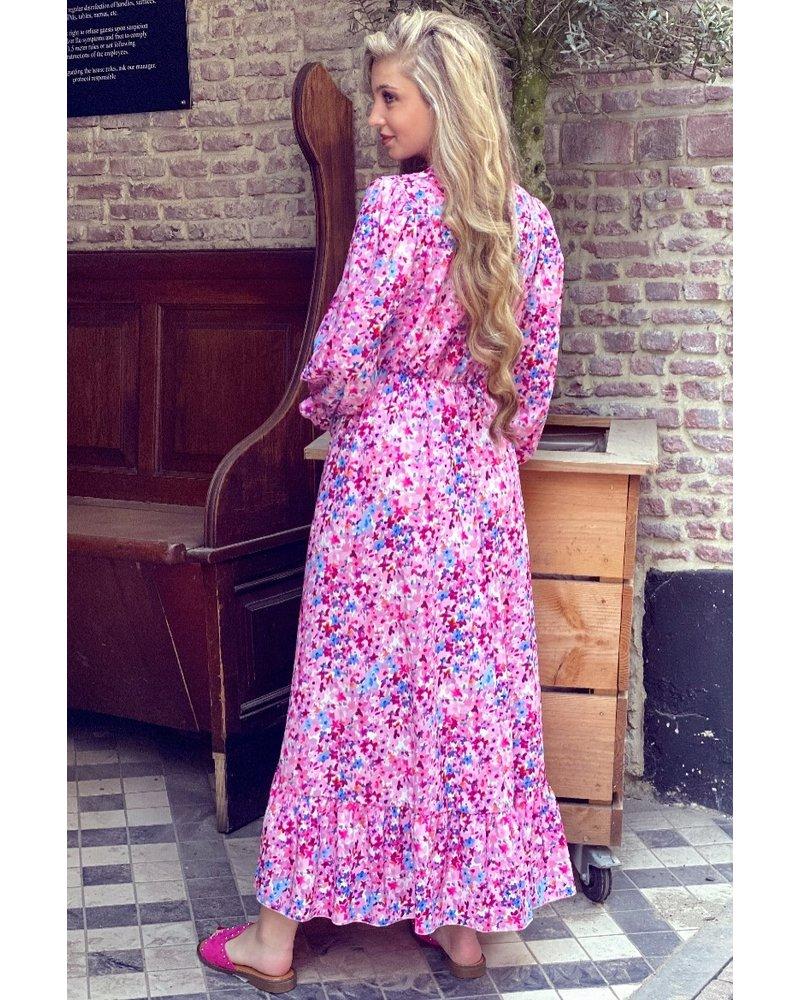 Leah Flower Dress - Pink