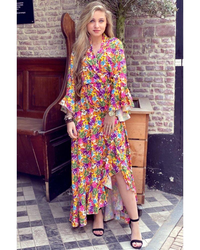Amy Maxi Flower Dress - Purple