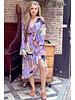 Pattern Split Midi Dress - Lilac