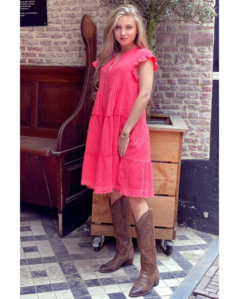 Naomi Dress - Coral
