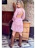 Lydia Flower Dress - Light Pink
