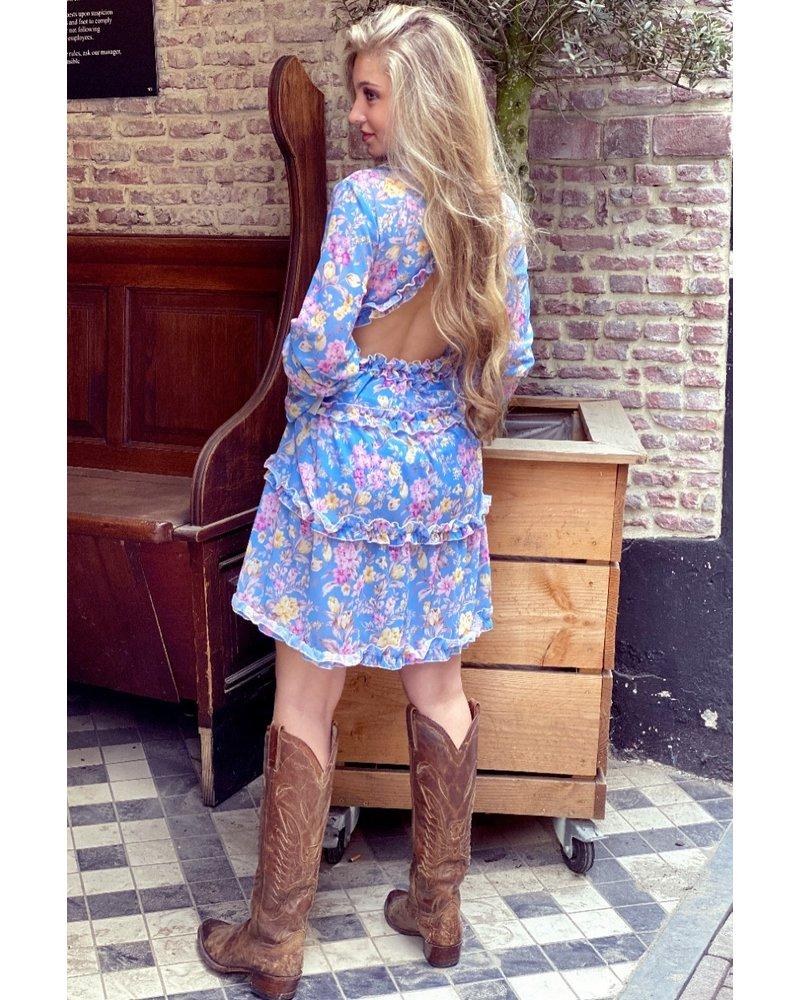 Lydia Flower Dress - Blue