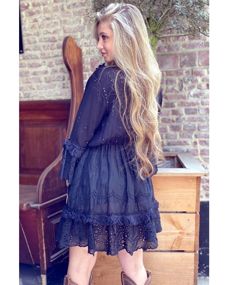 Bohemian Shell Dress - Black