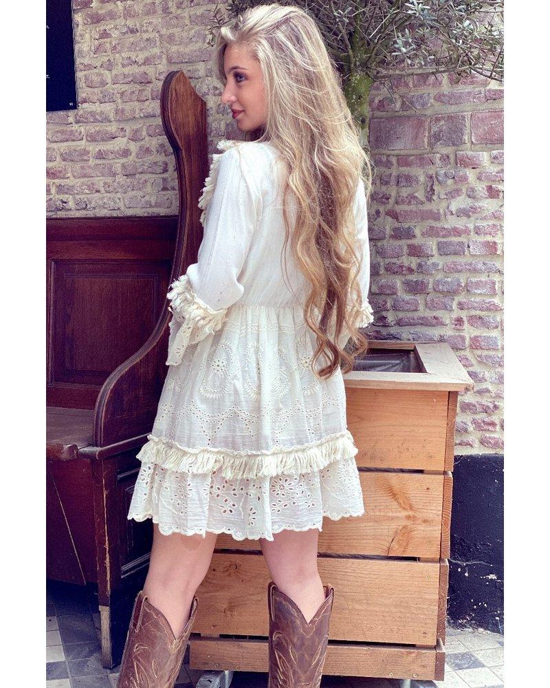 Bohemian Shell Dress - Beige