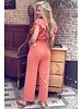 Nicole Ruffle Jumpsuit - Peach