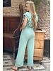 Nicole Ruffle Jumpsuit - Mint