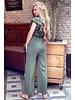 Nicole Ruffle Jumpsuit - Army Green