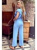 Nicole Ruffle Jumpsuit - Light Blue