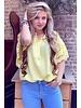 Oversized Lace Blouse - Yellow