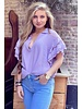 Oversized Lace Blouse - Lilac