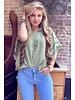 Oversized Lace Blouse - Army Green