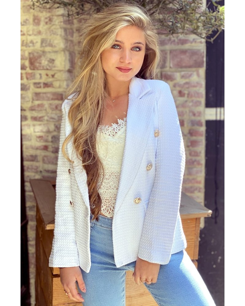 Mica Blazer - White