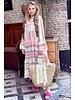 Noor Long Aztec Dress - Pink / Taupe