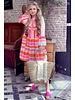 Noor Short Neon Aztec Dress - Pink / Orange