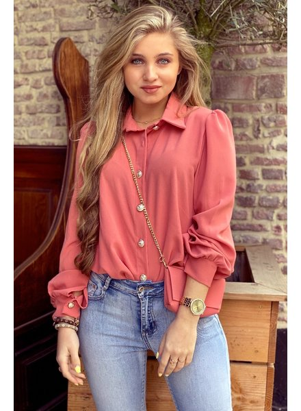 Ruby Blouse with Bag - Old Pink / Gold