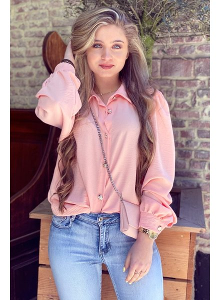Ruby Blouse with Bag - Peach / Silver