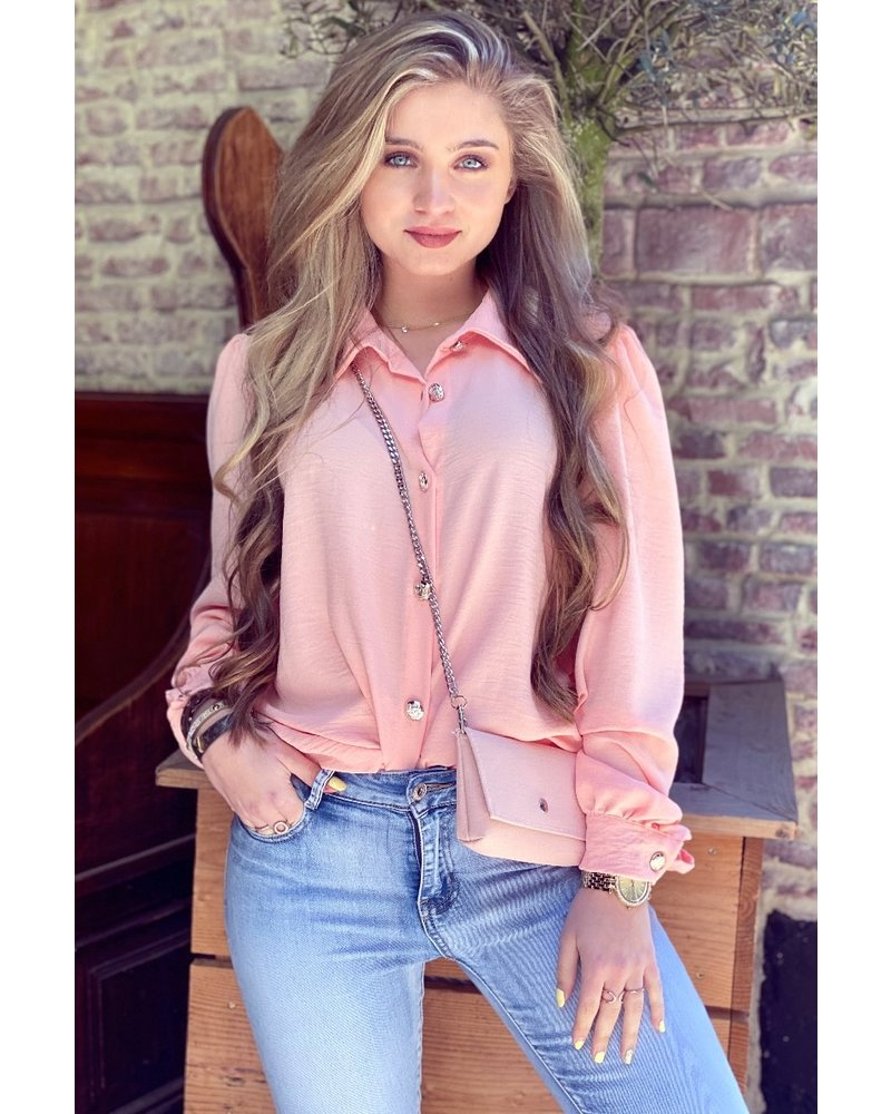 Ruby Blouse with Bag - Lightpink / Silver
