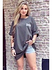 Oversized Flash T-shirt - Army Green