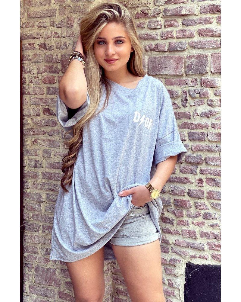 Oversized Flash T-shirt - Grey